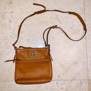 Dooney & Bourke Tan Pebble Grain Leather Crossbody